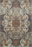 Oriental Weavers Pasha 8022K Blue/ Rust Area Rug main image