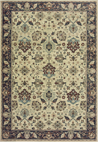 Oriental Weavers Raleigh 8026E Ivory/Navy Area Rug main image