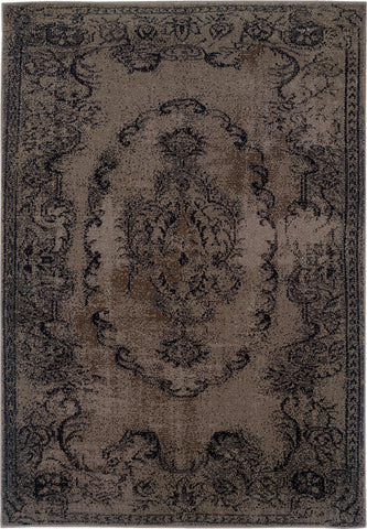 Oriental Weavers Revival 119L2 Grey/Black Area Rug main image