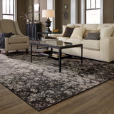Oriental Weavers Revival 216E2 Grey/Black Area Rug Roomshot