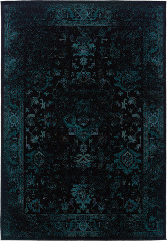 Oriental Weavers Revival 3689G Black/Teal Area Rug main image