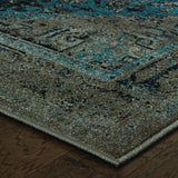 Oriental Weavers Revival 4694E Grey/Blue Area Rug Corner