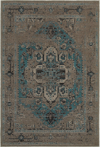 Oriental Weavers Revival 4694E Grey/Blue Area Rug main image