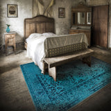 Oriental Weavers Revival 550H2 Teal/Grey Area Rug Roomshot