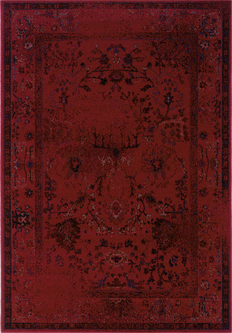 Oriental Weavers Revival 550R2 Red/Grey Area Rug main image