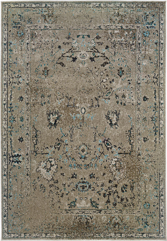 Oriental Weavers Revival 551Q2 Grey/Black Area Rug main image