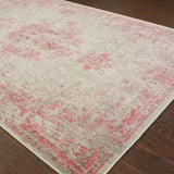 Oriental Weavers Revival 6330F Grey/Pink Area Rug Closeup