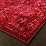 Oriental Weavers Revival 6330M Red/Pink Area Rug Corner
