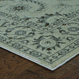 Oriental Weavers Richmond 114J3 Ivory/Grey Area Rug Corner