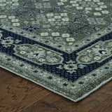 Oriental Weavers Richmond 119U3 Grey/Navy Area Rug Corner