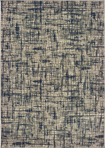 Oriental Weavers Richmond 802K3 Grey/Navy Area Rug main image