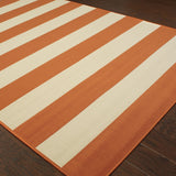 Oriental Weavers Riviera 4768B Orange/Ivory Area Rug Detail Shot