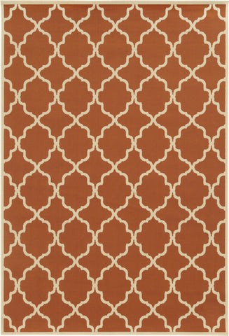 Oriental Weavers Riviera 4770D Orange/Ivory Area Rug main image