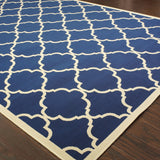 Oriental Weavers Riviera 4770L Navy/Ivory Area Rug Closeup