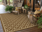 Oriental Weavers Riviera 4771L Brown/Ivory Area Rug RoomScene