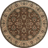 Oriental Weavers Salerno 2859D Brown/Ivory Area Rug 7' 8 Round