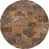Oriental Weavers Salerno 2941A Gold/Grey Area Rug 7' 8 Round