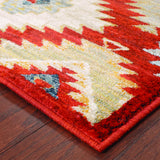 Oriental Weavers Sedona 5936D Red/Multi Area Rug Corner