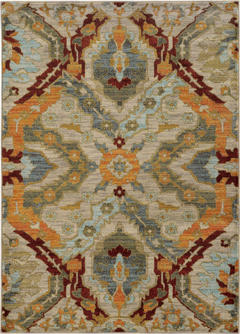 Oriental Weavers Sedona 6357A Beige/Orange Area Rug main image