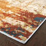 Oriental Weavers Sedona 6365A Blue/Red Area Rug Corner