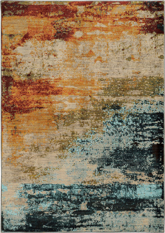 Oriental Weavers Sedona 6365A Blue/Red Area Rug main image
