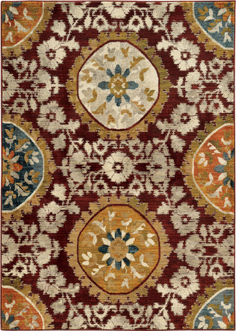 Oriental Weavers Sedona 6366A Red/Gold Area Rug main image