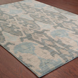 Oriental Weavers Sedona 6410D Ivory/Grey Area Rug Detail Shot