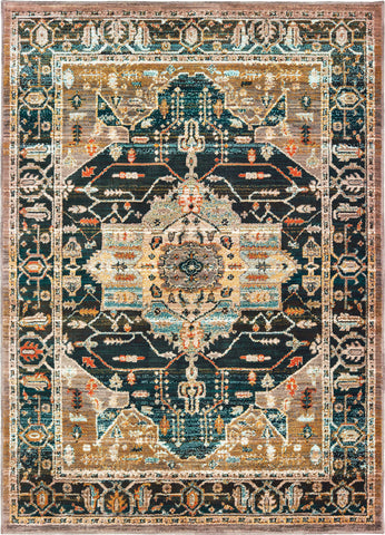 Oriental Weavers Sedona 9592B Blue Gold Area Rug main image