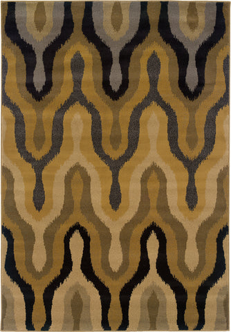 Oriental Weavers Stella 3320D Gold/Black Area Rug main image