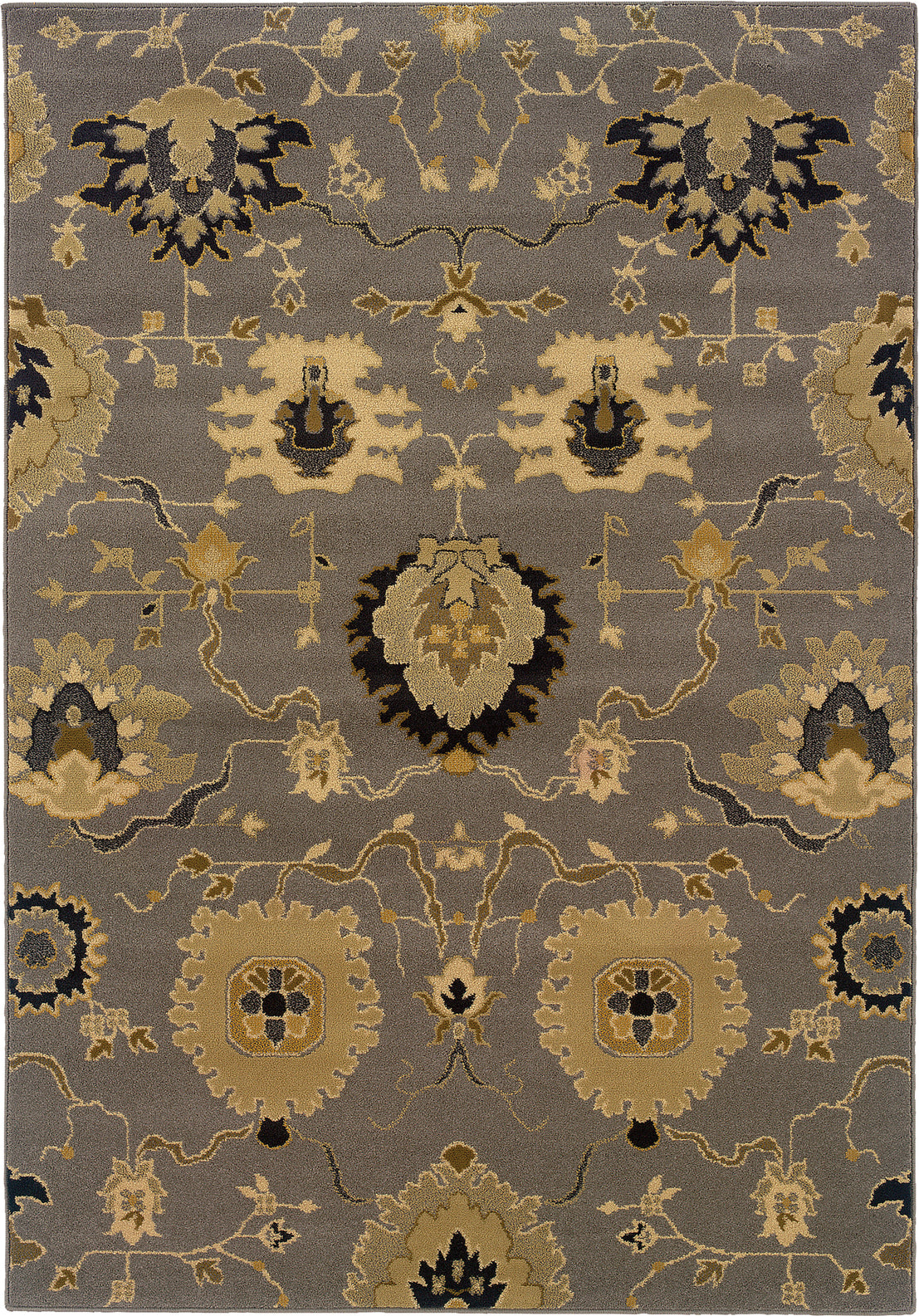 Oriental Weavers Stella 3338A Grey/Gold Area Rug main image