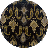 Oriental Weavers Stella 3530B Black/Grey Area Rug 7' 8 X 7' 8 Round