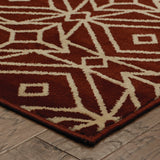 Oriental Weavers Stratton 5882B Red/Ivory Area Rug Corner