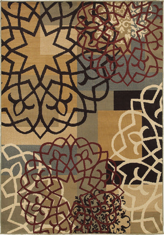 Oriental Weavers Stratton 6021B Multi/Gold Area Rug main image