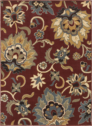 Oriental Weavers Stratton 6034C Red/Gold Area Rug main image