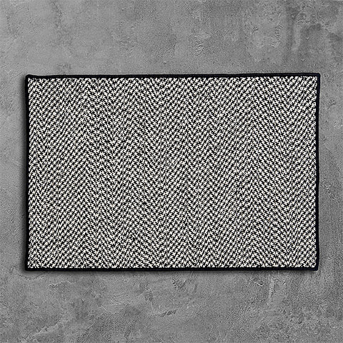 Colonial Mills Outdoor Houndstooth Tweed OT49 Black Area Rug main image