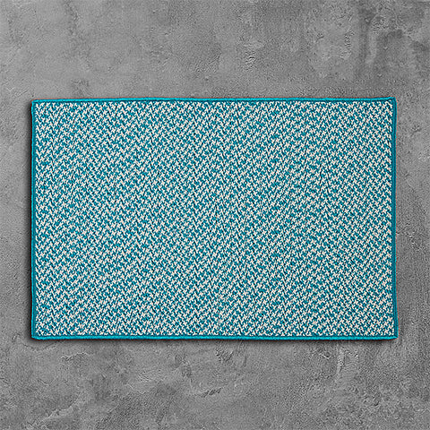 Colonial Mills Outdoor Houndstooth Tweed OT57 Turquoise Area Rug main image