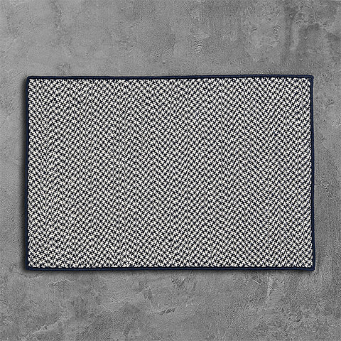 Colonial Mills Outdoor Houndstooth Tweed OT59 Navy Area Rug main image