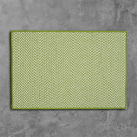 Colonial Mills Outdoor Houndstooth Tweed OT69 Lime Area Rug main image