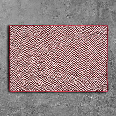 Colonial Mills Outdoor Houndstooth Tweed OT79 Sangria Area Rug main image