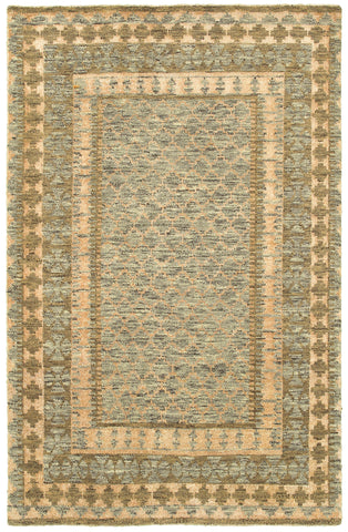 LR Resources Ousha 04420 Gray/Khaki Area Rug