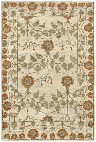 LR Resources Ousha 04422 Natural / Rust Area Rug