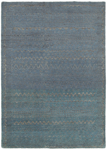 LR Resources Ousha 04423 Blue Area Rug