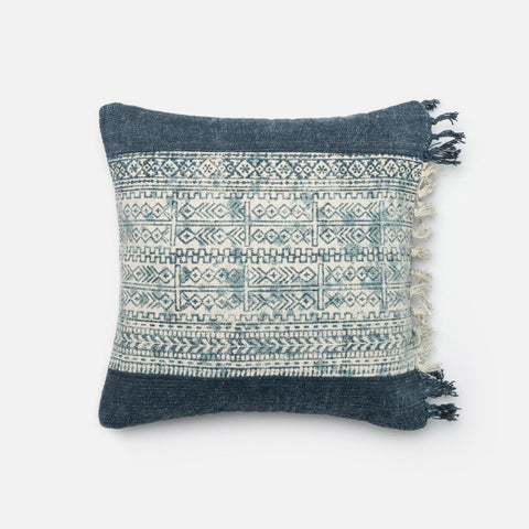 Loloi Pillows P0280 Blue/Ivory main image