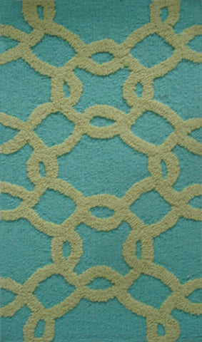 Rug Market America Pop Accents Links Aqua/Sage Area main image