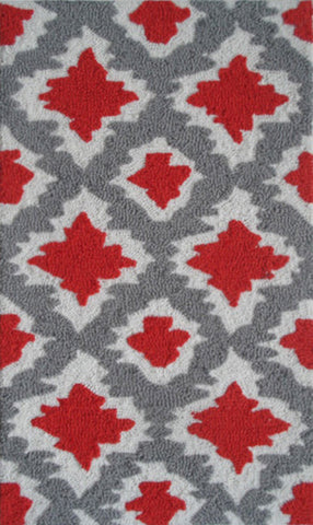 Rug Market America Pop Accents Ethnic Red/Grey/White Area main image