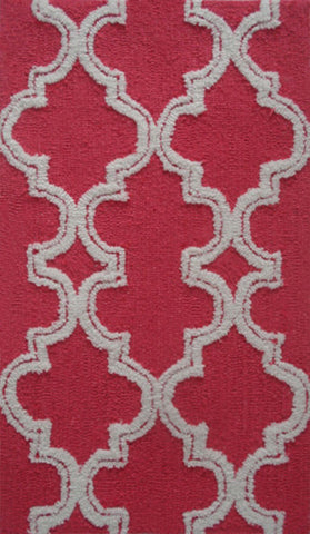 Rug Market America Pop Accents Jafar Raspberry Raspberry/White Area main image