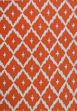 Rug Market America Pop Accents Tangier Orange Orange/White Area 7' 0'' X 10' 0''