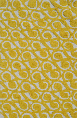 Rug Market America Pop Accents Yang Yellow Yellow/White Area main image