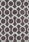 Rug Market America Pop Accents Medal Taupe/White Area 5' 0'' X 7' 0''