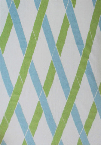 Rug Market America Pop Accents Bamboo Green/White/Blue Area main image
